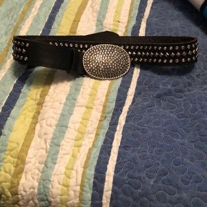 Buckle brand belt with a lot of bling